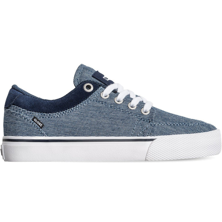 Surf Shop, Surf Clothing, Globe, GS-Kids, Shoes, Navy Chambray/White