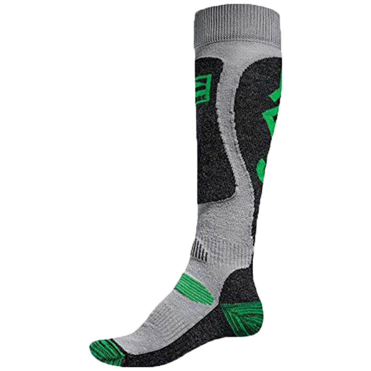 Surf Shop, Surf Clothing, Globe, Globe x YES Pow Pow Socks, Socks, Grey/Lime