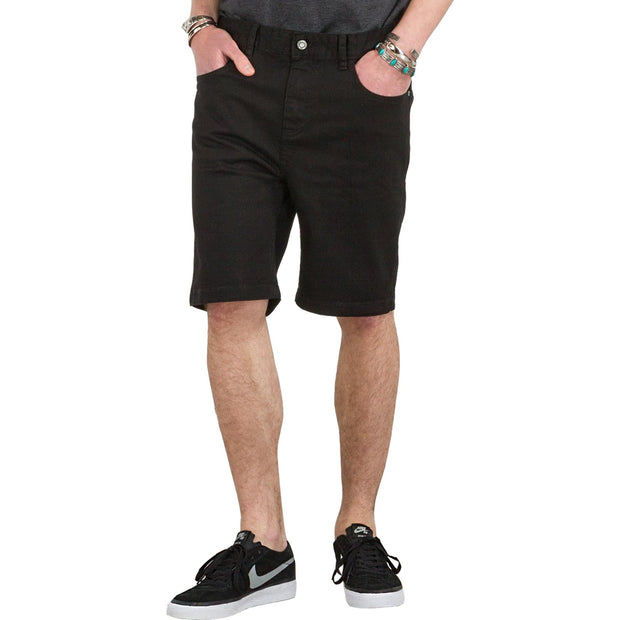 Surf Shop, Surf Clothing, Globe, Goodstock Denim Walkshort, Shorts, Black