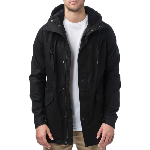 Surf Shop, Surf Clothing, Globe, Goodstock Thermal Fishtail, Jackets, Nu Black