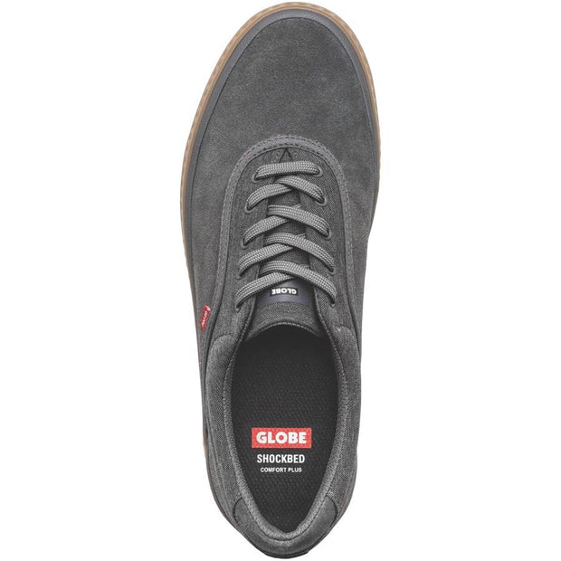 Surf Shop, Surf Clothing, Globe, Sprout Shoe, Shoes, Charcoal/Chambray/Gum