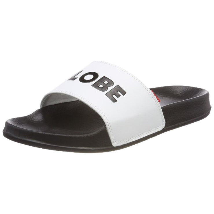 Surf Shop, Surf Clothing, Globe, Unfazed Slide, Flip Flops, White/Black
