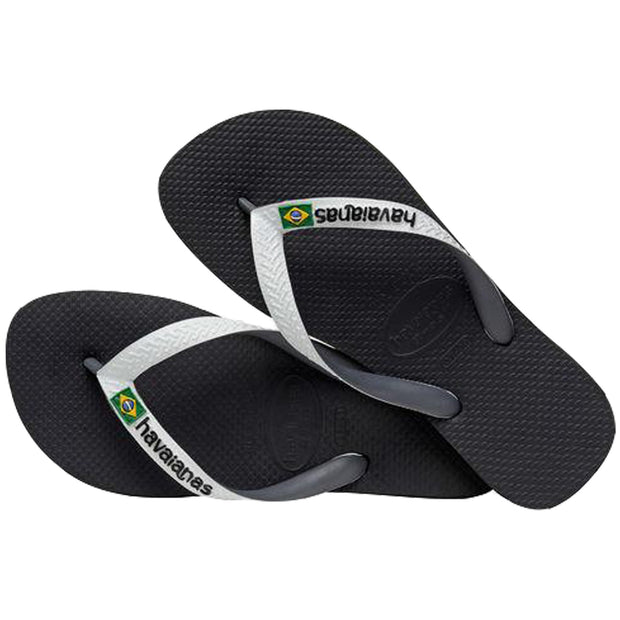 Surf Shop, Surf Clothing, Havaianas, Brasil Mix FC, Flip Flops, Preto/Branco