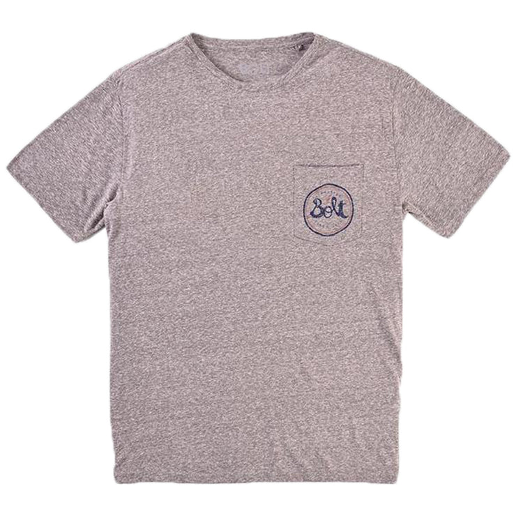 Surf Shop, Surf Clothing, Lightning Bolt, The Source Pocket Tee, Tshirt, Heather Grey