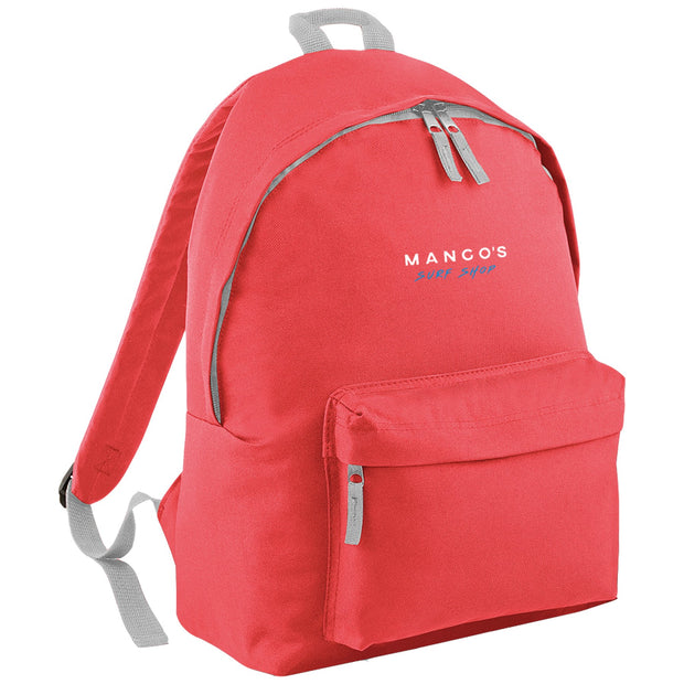 Surf Shop, Surf Clothing, Mango Surfing, Mango Backpack, Blue Logo, Bags, Coral