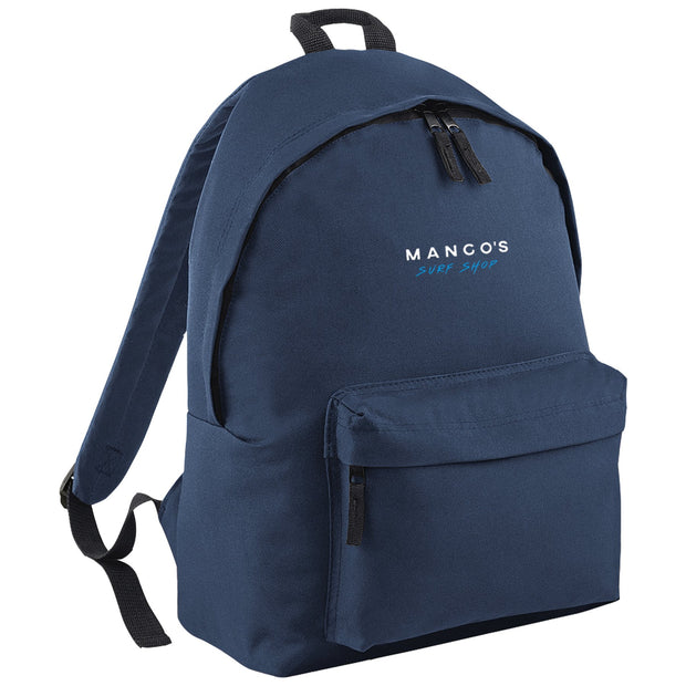 Surf Shop, Surf Clothing, Mango Surfing, Mango Backpack, Blue Logo, Bags, French Navy