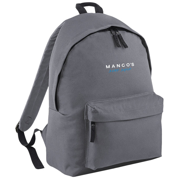 Surf Shop, Surf Clothing, Mango Surfing, Mango Backpack, Blue Logo, Bags, Graphite Grey