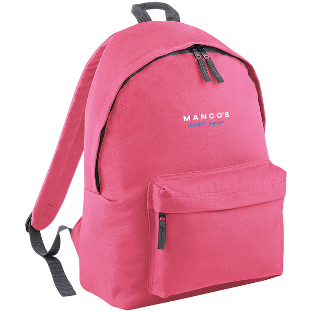 Surf Shop, Surf Clothing, Mango Surfing, Mango Backpack, Blue Logo, Bags, True Pink