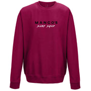 Surf Shop, Surf Clothing, Mango Surfing, Mango Basic Crew, Bright Colours, Sweatshirts, Cranberry