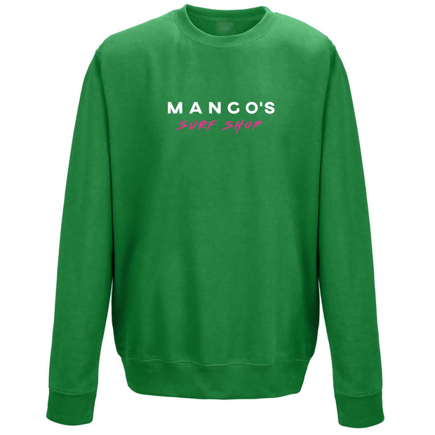 Surf Shop, Surf Clothing, Mango Surfing, Mango Basic Crew, Bright Colours, Sweatshirts, Kelly Green