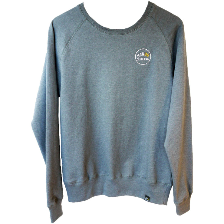 Surf Shop, Surf Clothing, Mango Surfing, Mango Classic Crew, Sweatshirt, Light Grey