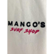 Surf Shop, Surf Clothing, Mango Surfing, Mango's Logo Tee, Tshirt, White