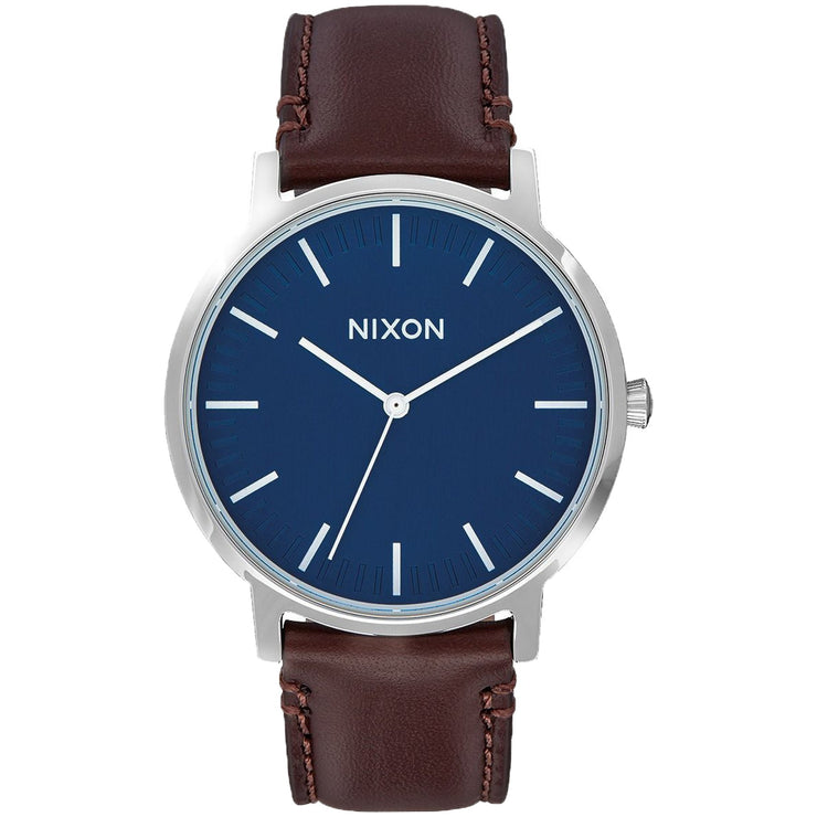 Surf Shop, Surf Clothing, Nixon, Copy Of Porter Leather, Watch, Navy/Brown