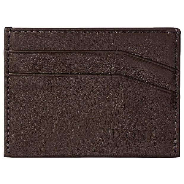Surf Shop, Surf Clothing, Nixon, Flaco Leather Card Wallet, Wallets, Brown