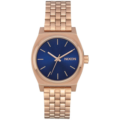 Surf Shop, Surf Clothing, Nixon, Medium Time Teller, Watch, Rose Gold/Navy