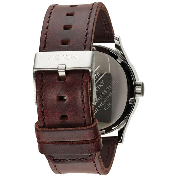 Surf Shop, Surf Clothing, Nixon, Sentry Leather, Watch, Blue/Brown