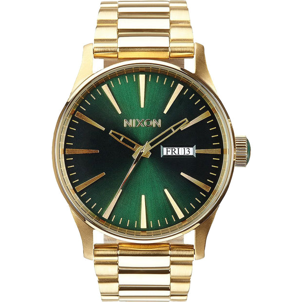 Surf Shop, Surf Clothing, Nixon, Sentry SS, Watch, Gold/Green Sunray