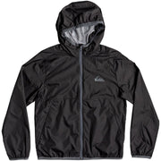 Surf Shop, Surf Clothing, Quiksilver, Contrasted Hooded Water-Repellent Windbreaker, Jacket, Black