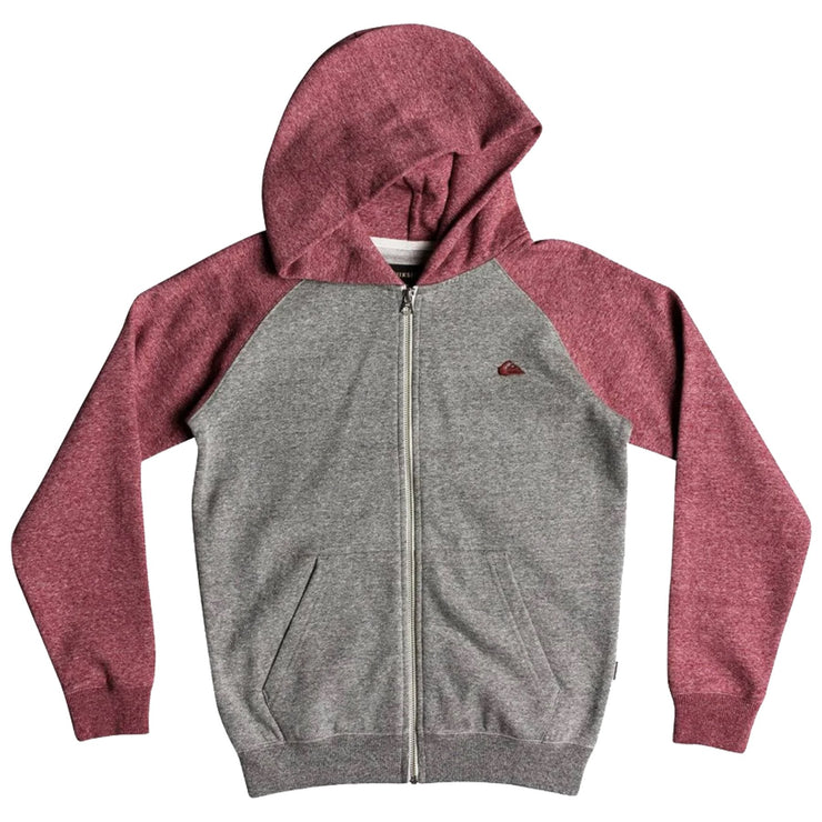 Surf Shop, Surf Clothing, Quiksilver, Everyday Zip, Hoodie, Light Grey Heather