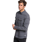 Surf Shop, Surf Clothing, Quiksilver, Hamada Shirt, Shirts, Iron Gate Striped Flannel