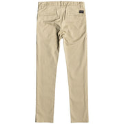 Surf Shop, Surf Clothing, Quiksilver, Krandy Slim Fit Chinos, Pants, Cream Plage