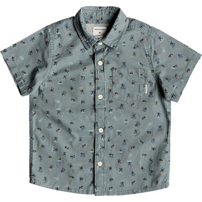 Surf Shop, Surf Clothing, Quiksilver, Mini Motif Short Sleeve, Tshirt, Stormy Sea