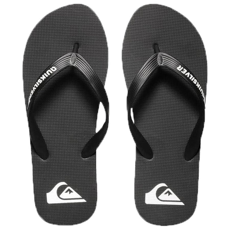 Surf Shop, Surf Clothing, Quiksilver, Molokai, Flip Flops, Black/Black/White
