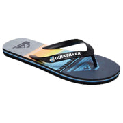 Surf Shop, Surf Clothing, Quiksilver, Molokai Highline Slab, Flip Flops, Black/Grey/Blue