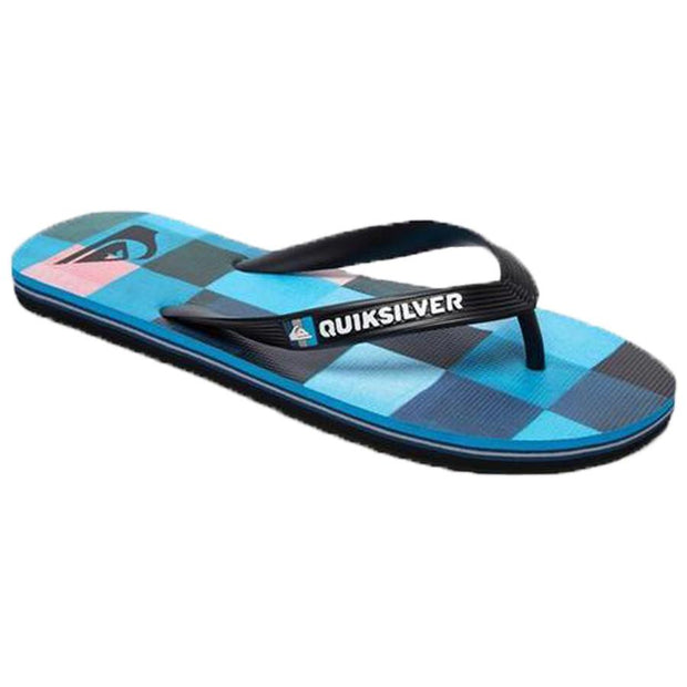 Surf Shop, Surf Clothing, Quiksilver, Molokai Resin Check, Flip Flops, Black/Blue/Red