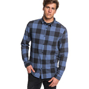 Surf Shop, Surf Clothing, Quiksilver, Motherfly Flannel, Shirt, Bijou Blue Motherfly Check