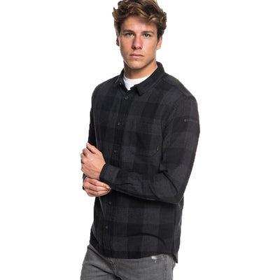 Surf Shop, Surf Clothing, Quiksilver, Motherfly Flannel, Shirt, Black Motherfly Check