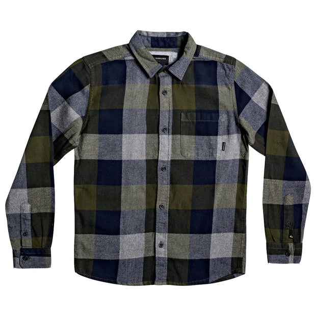 Surf Shop, Surf Clothing, Quiksilver, Motherfly Flannel Youth, Shirts, Deap Depths Motherfly