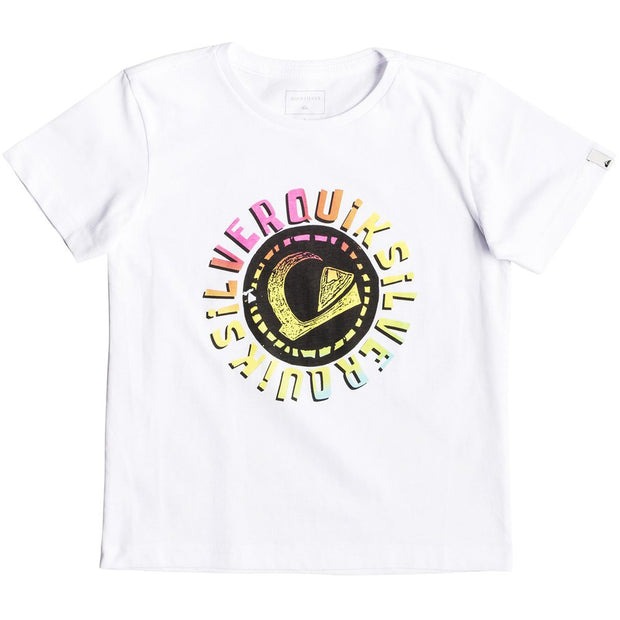 Surf Shop, Surf Clothing, Quiksilver, Rasta Logo, Tshirt, White