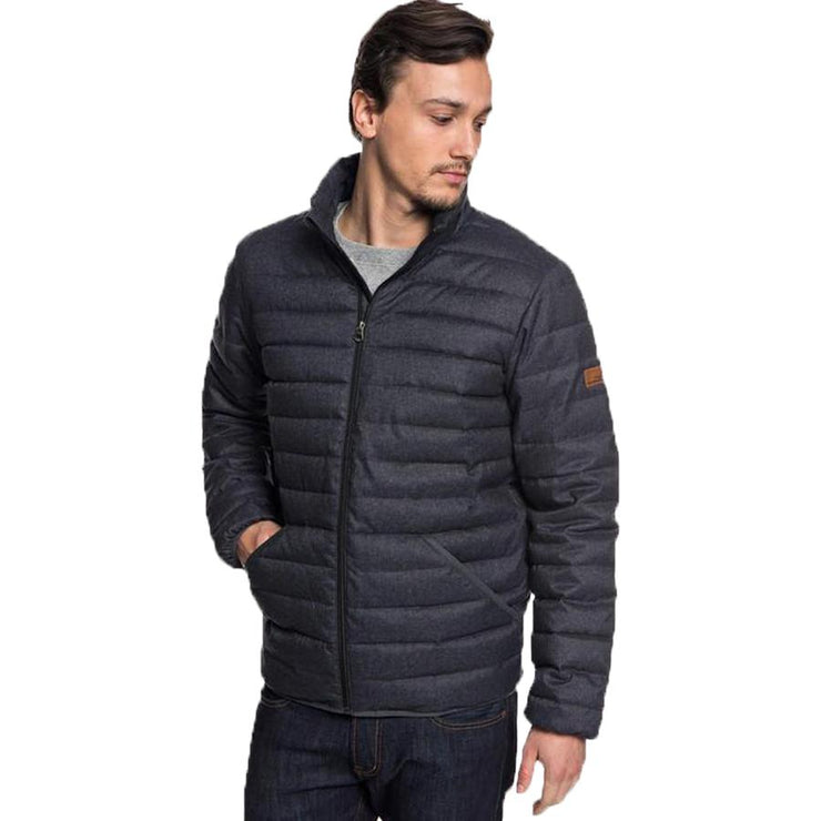 Surf Shop, Surf Clothing, Quiksilver, Scaly Puffer Jacket, Jackets, Dark Grey Heather