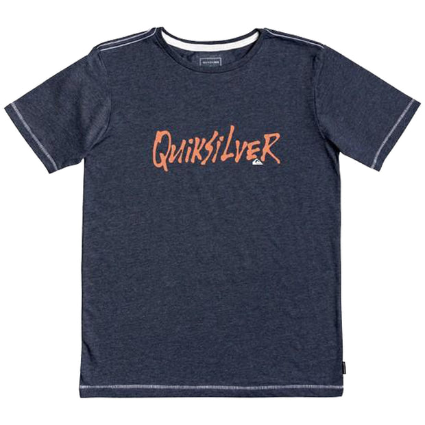 Surf Shop, Surf Clothing, Quiksilver, Scriptural, Tshirt, Blue Nights Heather