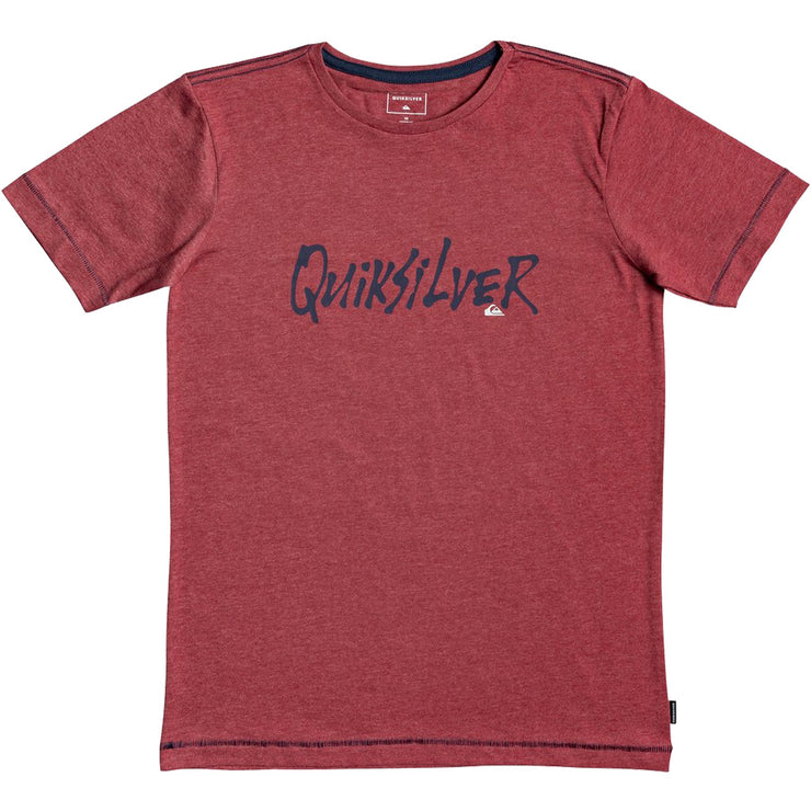 Surf Shop, Surf Clothing, Quiksilver, Scriptural, Tshirt, Brick Red Heather