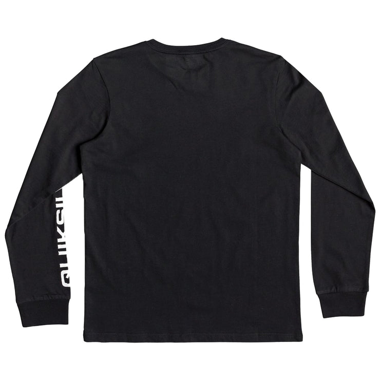 Surf Shop, Surf Clothing, Quiksilver, Stormy Riders Long Sleeve, Tshirt, Black