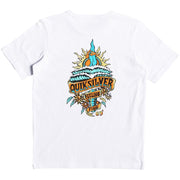 Surf Shop, Surf Clothing, Quiksilver, Tattered, Tshirt, White