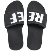 Surf Shop, Surf Clothing, Reef, Cushion Bounce Slide, Flip Flops, Black/White/Logo