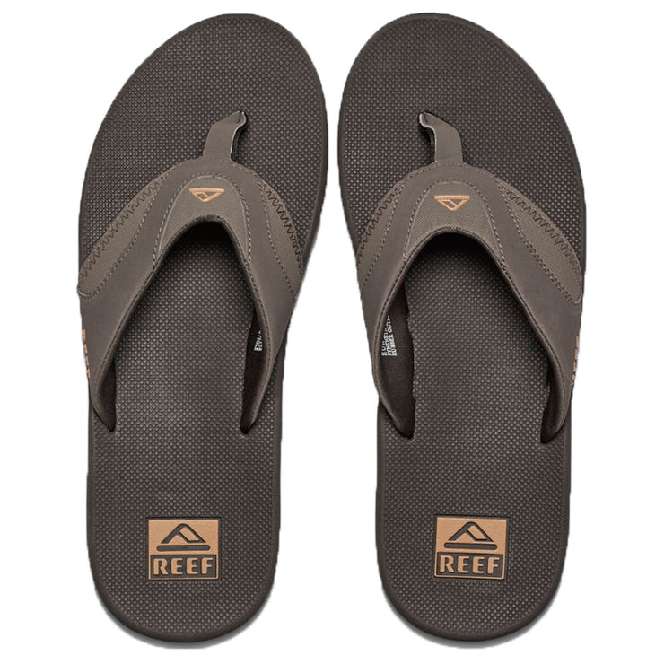 Surf Shop, Surf Clothing, Reef, Fanning, Flip Flops, Brown/Gum
