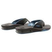 Fanning Mens Flip Flops | Grey/Light Blue