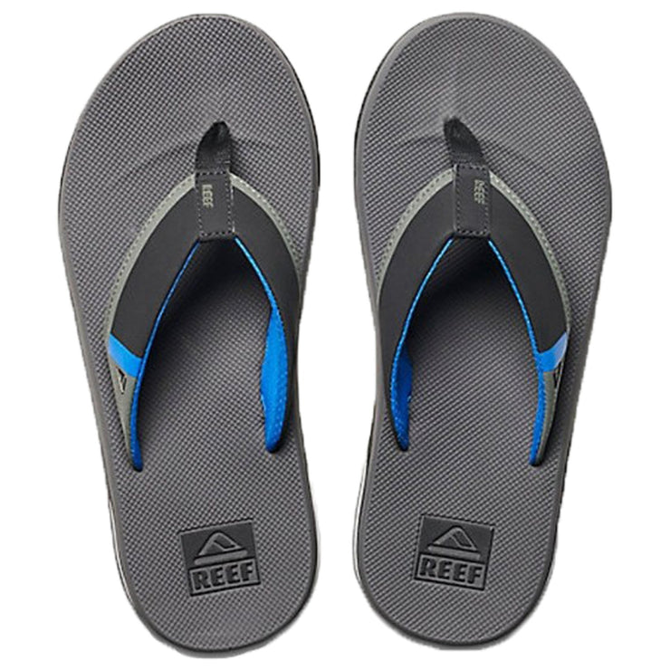 Surf Shop, Surf Clothing, Reef, Fanning Low, Flip Flops, Grey/Blue