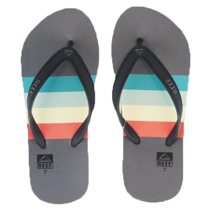 Surf Shop, Surf Clothing, Reef, Switchfoot Prints, Flip Flops, Aqua/Grey