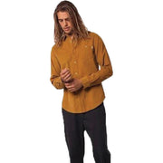 Surf Shop, Surf Clothing, Rhythm, Corduroy LS Shirt, Shirts, Turmeric
