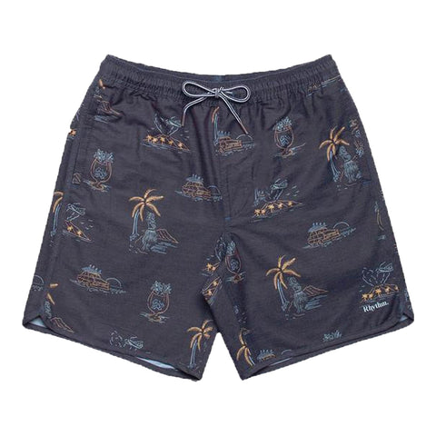 Surf Shop, Surf Clothing, Rhythm, Maui Beach Short, Shorts, Vintage Black