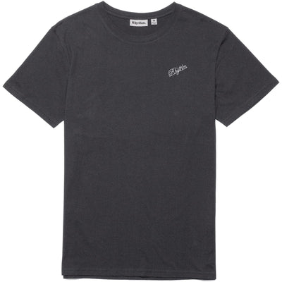 Surf Shop, Surf Clothing, Rhythm, Script Tee, Tshirt, Charcoal