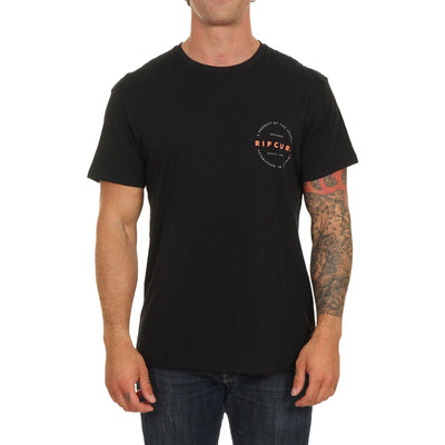 Surf Shop, Surf Clothing, Rip Curl, Authentic SS Tee, T-Shirt, Black