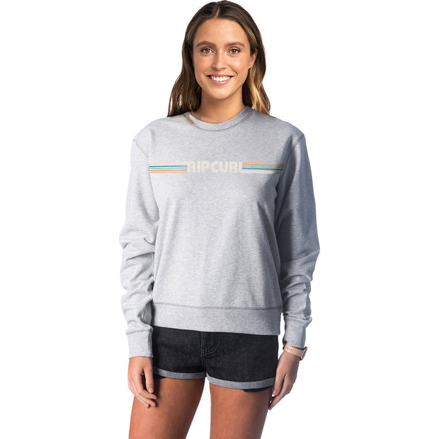 Surf Shop, Surf Clothing, Rip Curl, Big Mama Essential Crew, Sweatshirt, Cement Marle
