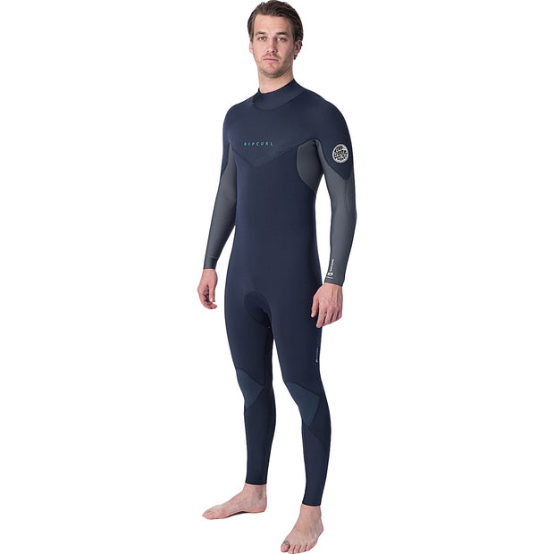 Surf Shop, Surf Clothing, Rip Curl, Dawn Patrol Back Zip 4/3, Wetsuit, Blue