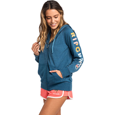 Surf Shop, Surf Clothing, Rip Curl, Horizon Zip-Through Hoodie, Hoodies, Blue Opel